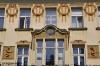Secesní domy Topič a Praha na Nár. třídě -skutečná stavba